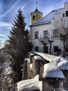 Winterkasteel | Schloss Möhren vanaf terras