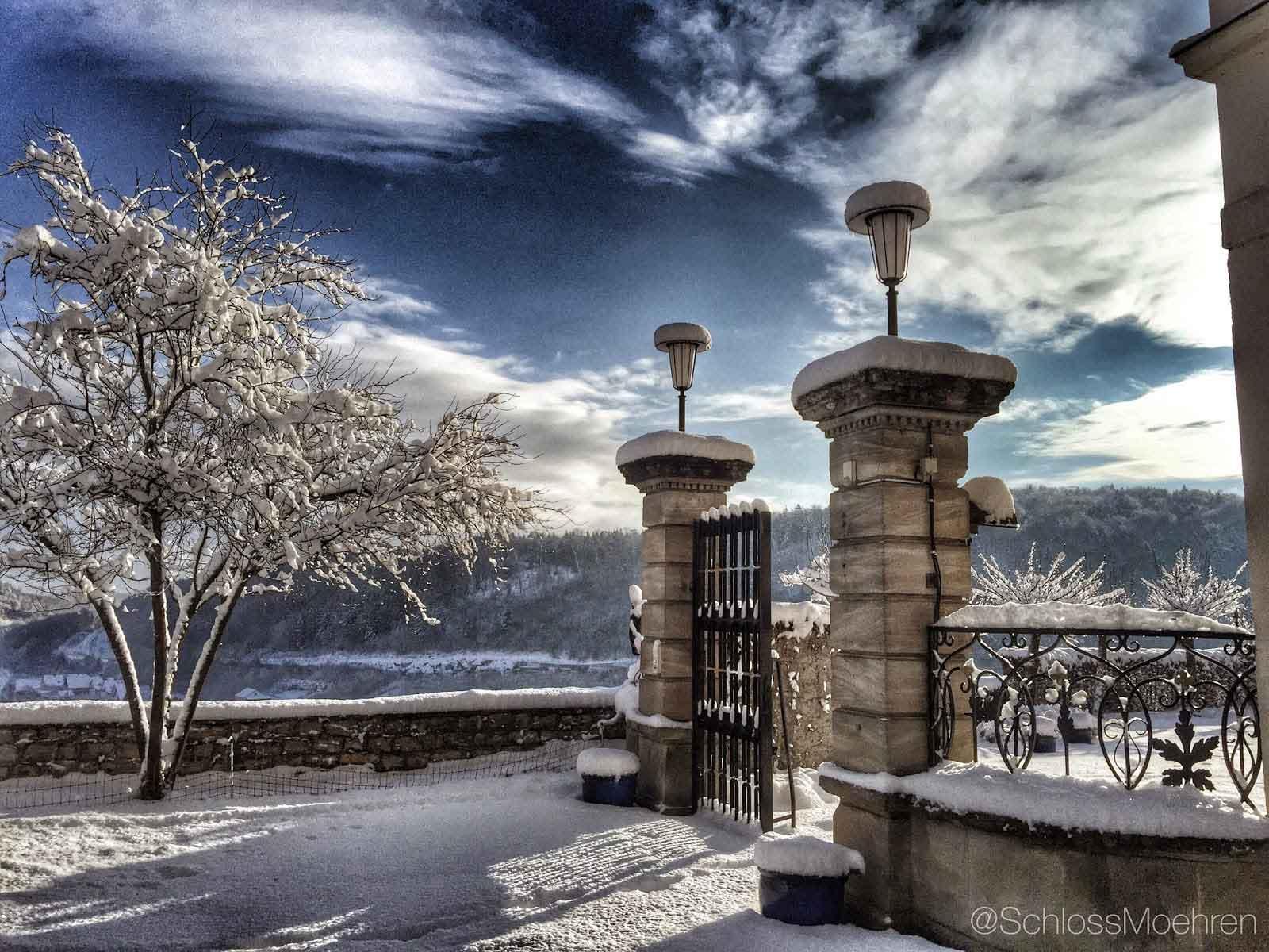 Winter op kasteel Schloss Möhren
