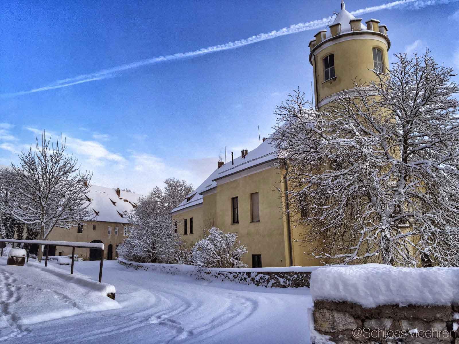 Landgoed in de sneeuw Kasteel | Schloss Möhren | Winter