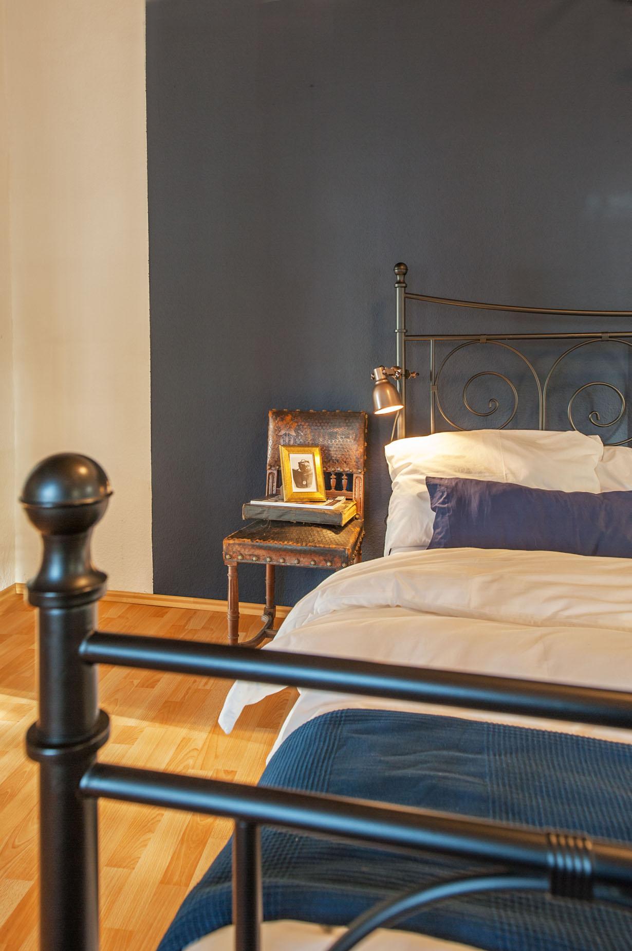Slaapkamer vakantiehuis Portierswoning