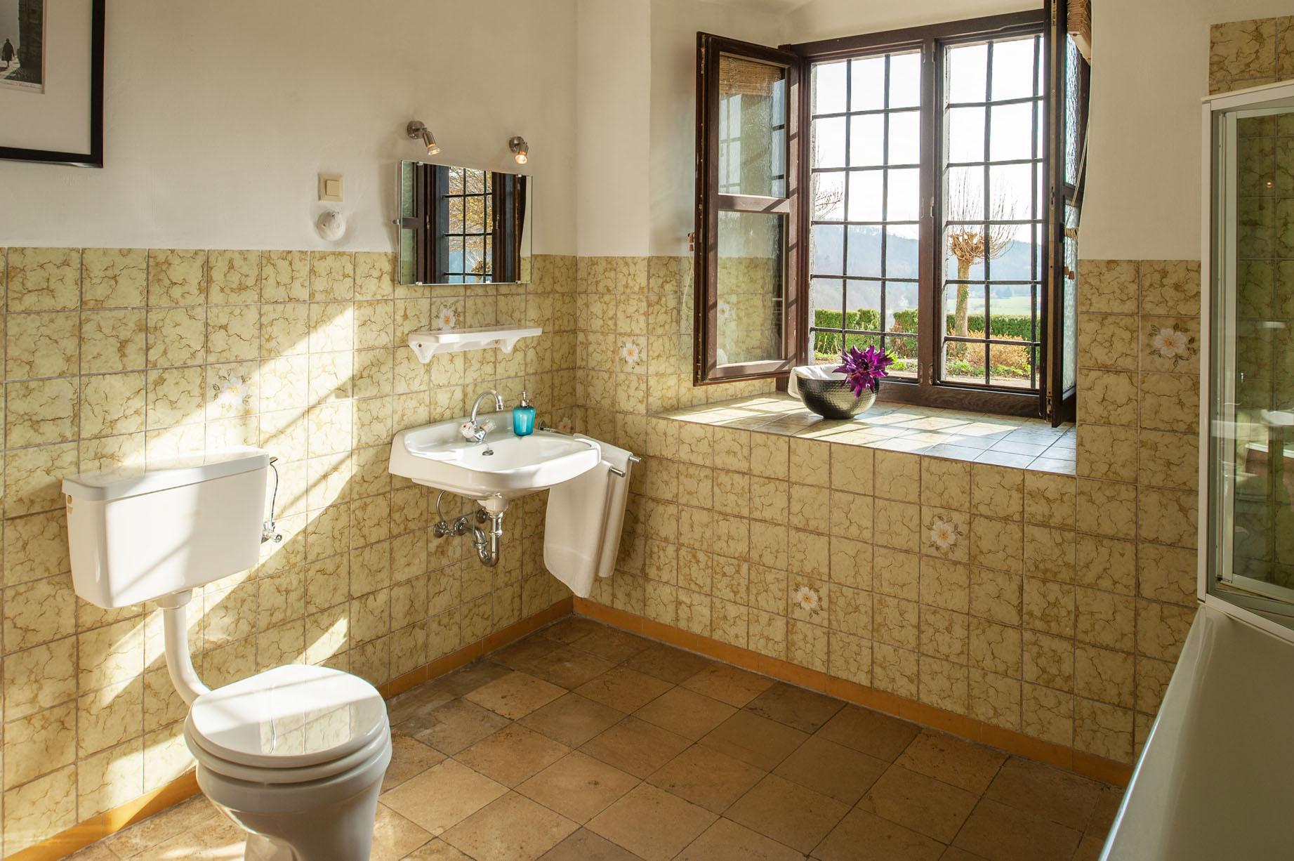 Badkamer vakantiehuis Portierswoning