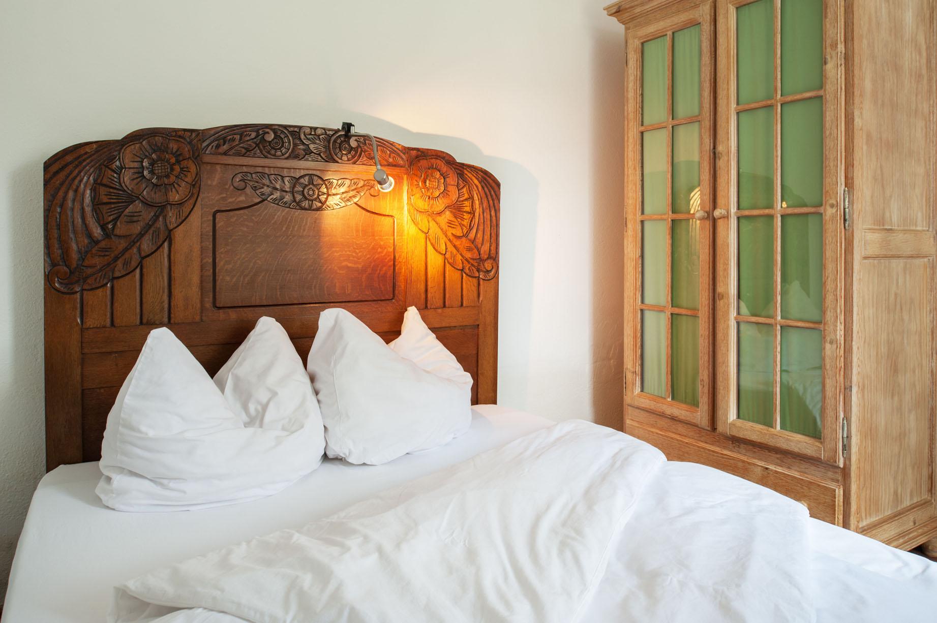 Tweepersoons slaapkamer vakantiehuis Schweizerhaus