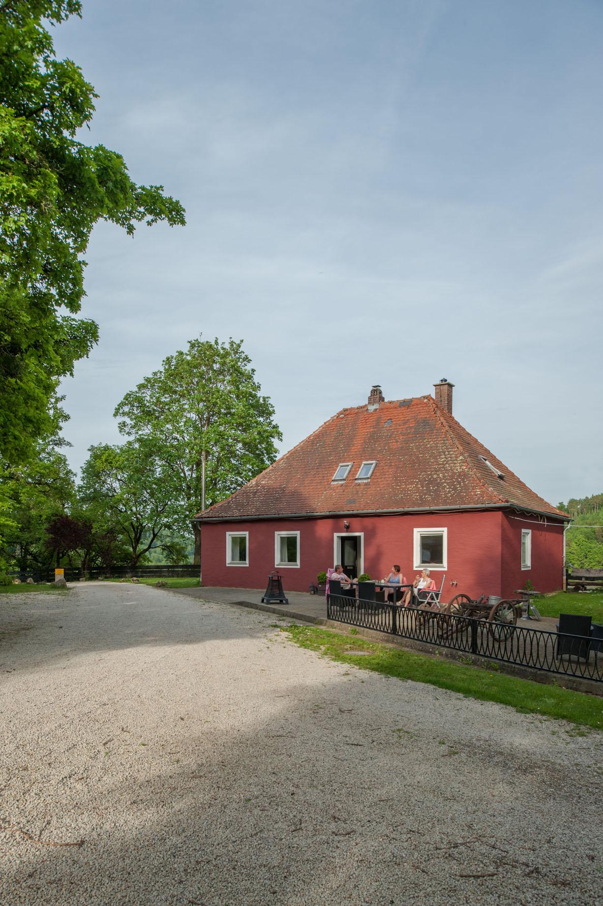 Tuin vakantiehuis Schweizerhaus