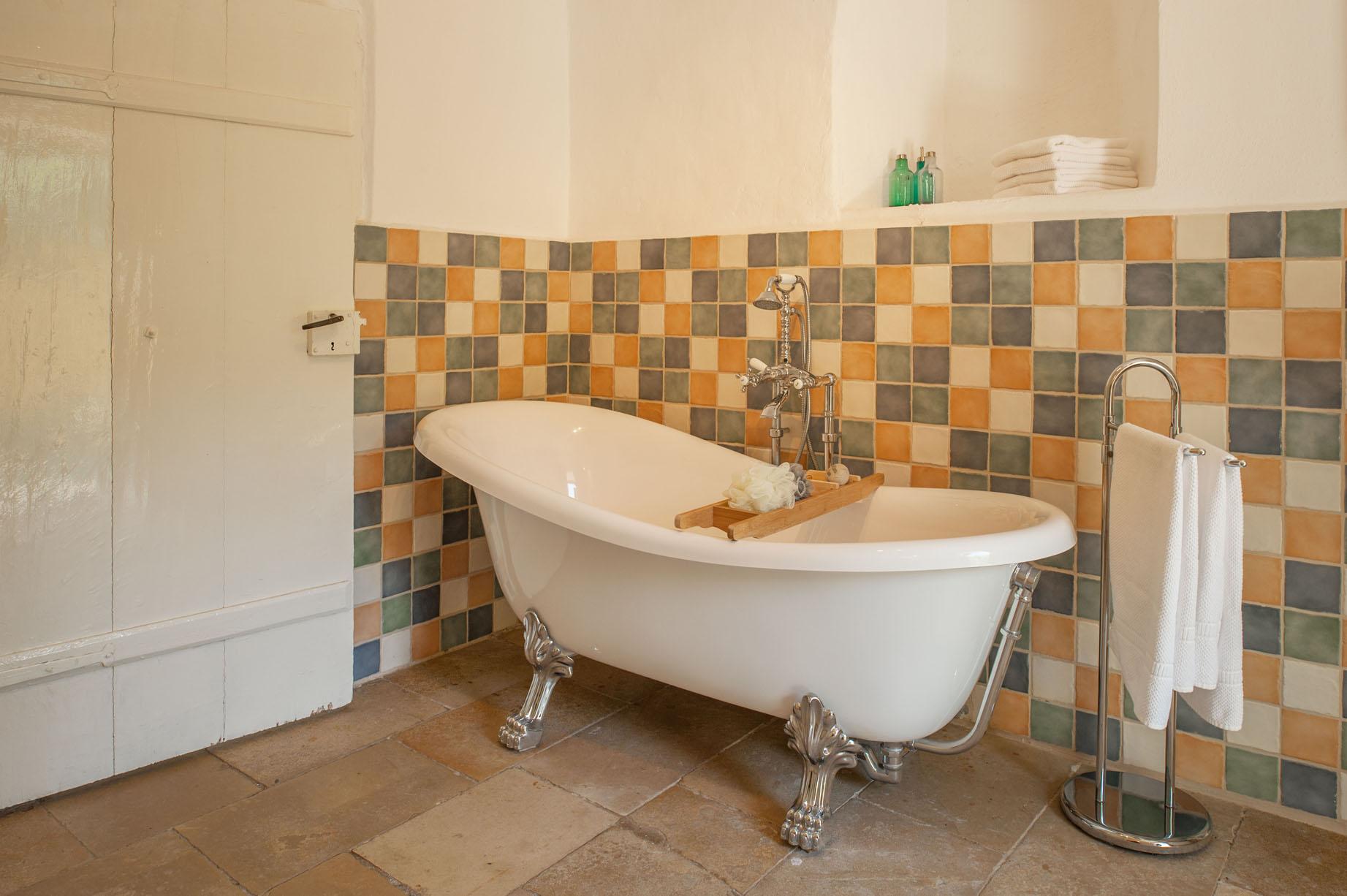 Bad op pootje vakantiehuis kasteeltoren