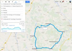 Fietsroute Wallfahrts 45 km