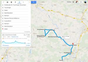 Fietsroute Steinerne rinne 40 km