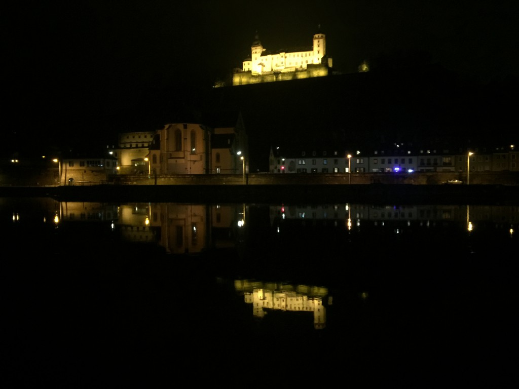 Night view Festung Marienberg Würzburg