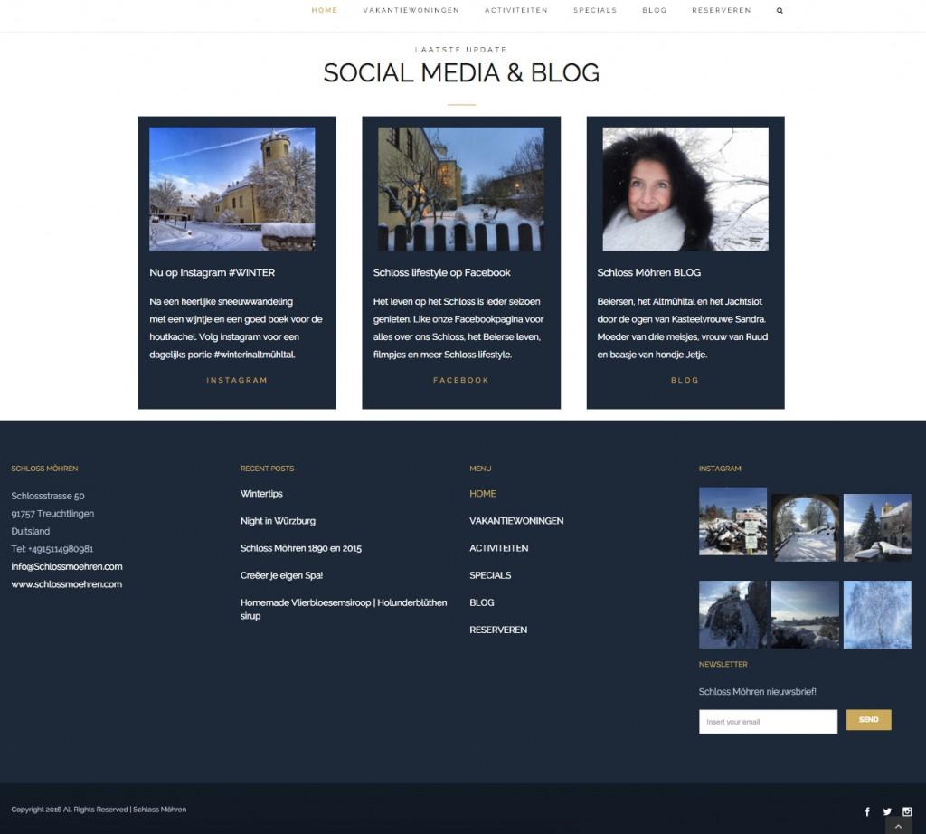 Nieuwe website Schloss Möhren SOCIAL MEDIA