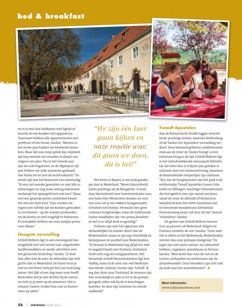 Vertrek NL Duitsland Interview Schloss Moehren