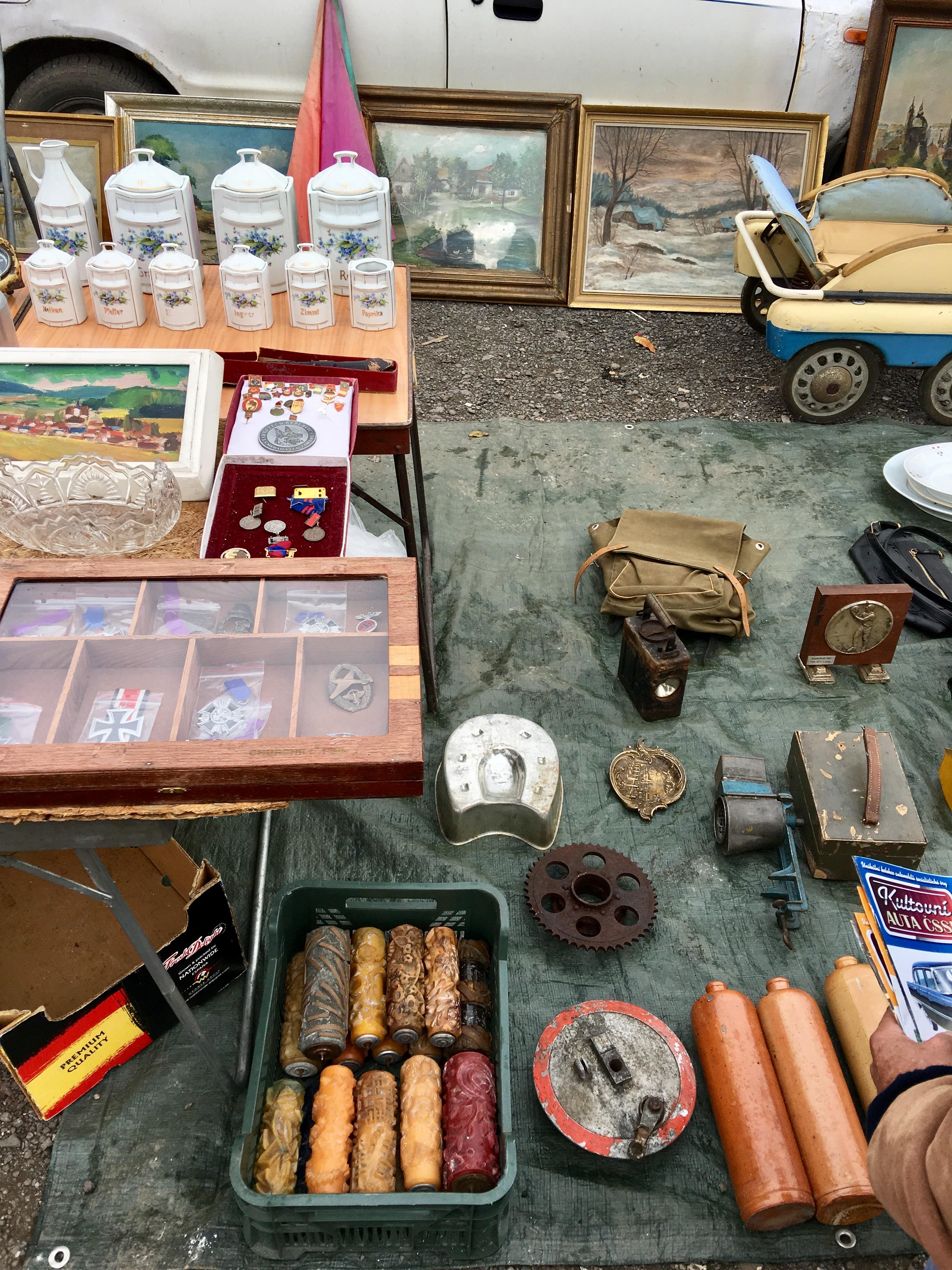 Flea market Prague
