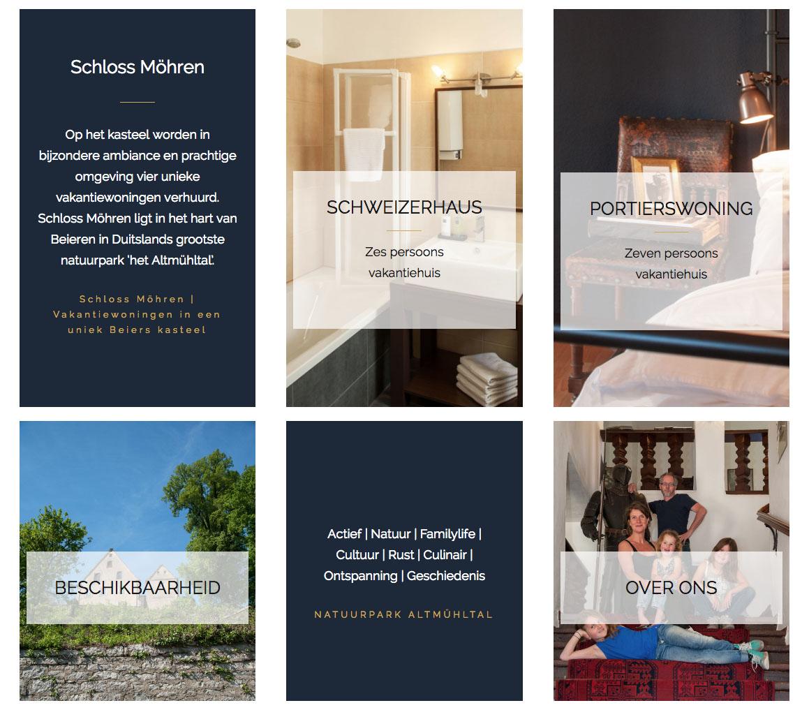 nieuwe website Schloss Möhren