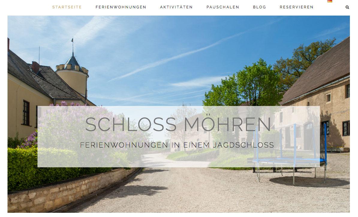 Duitse webseite Schloss Möhren