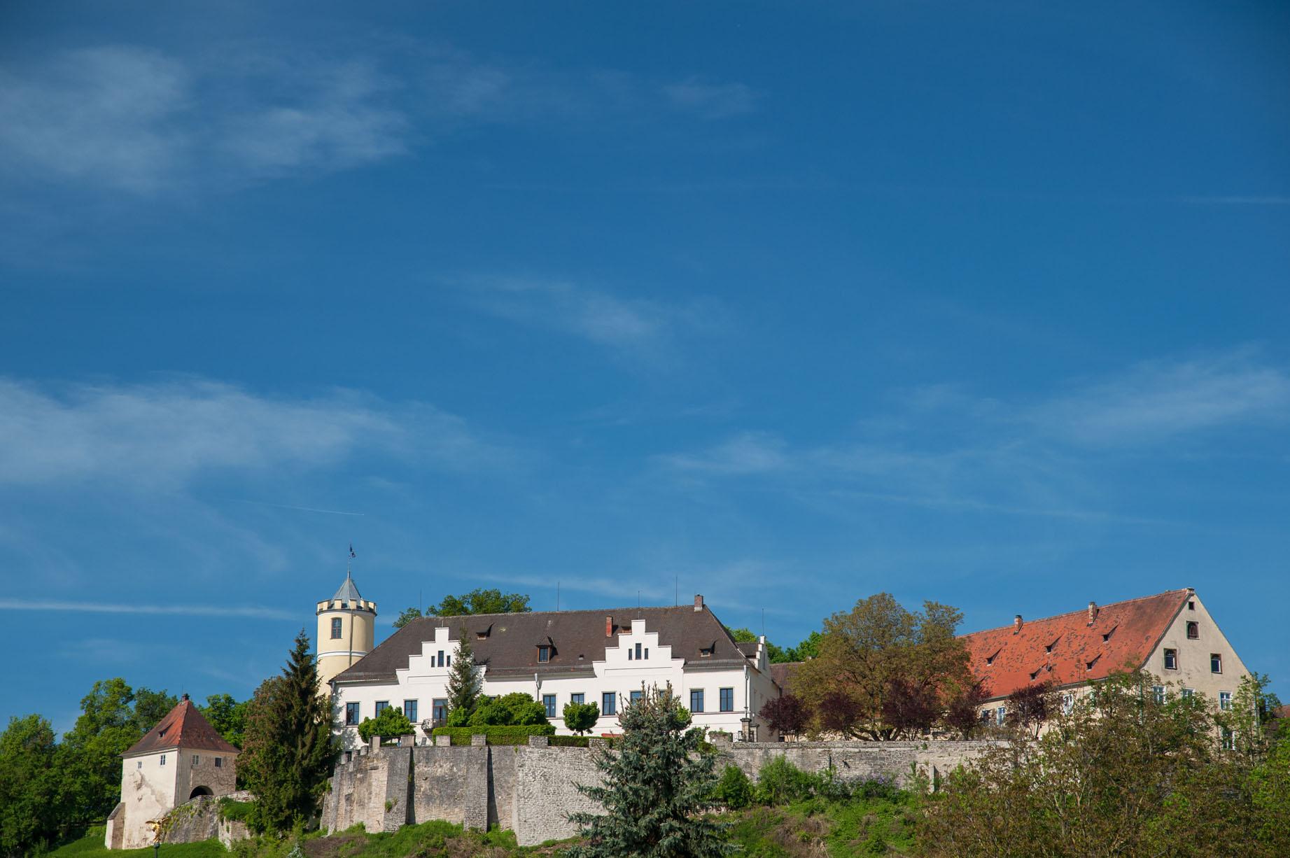 Kasteel aanzicht landgoed Schloss Möhren