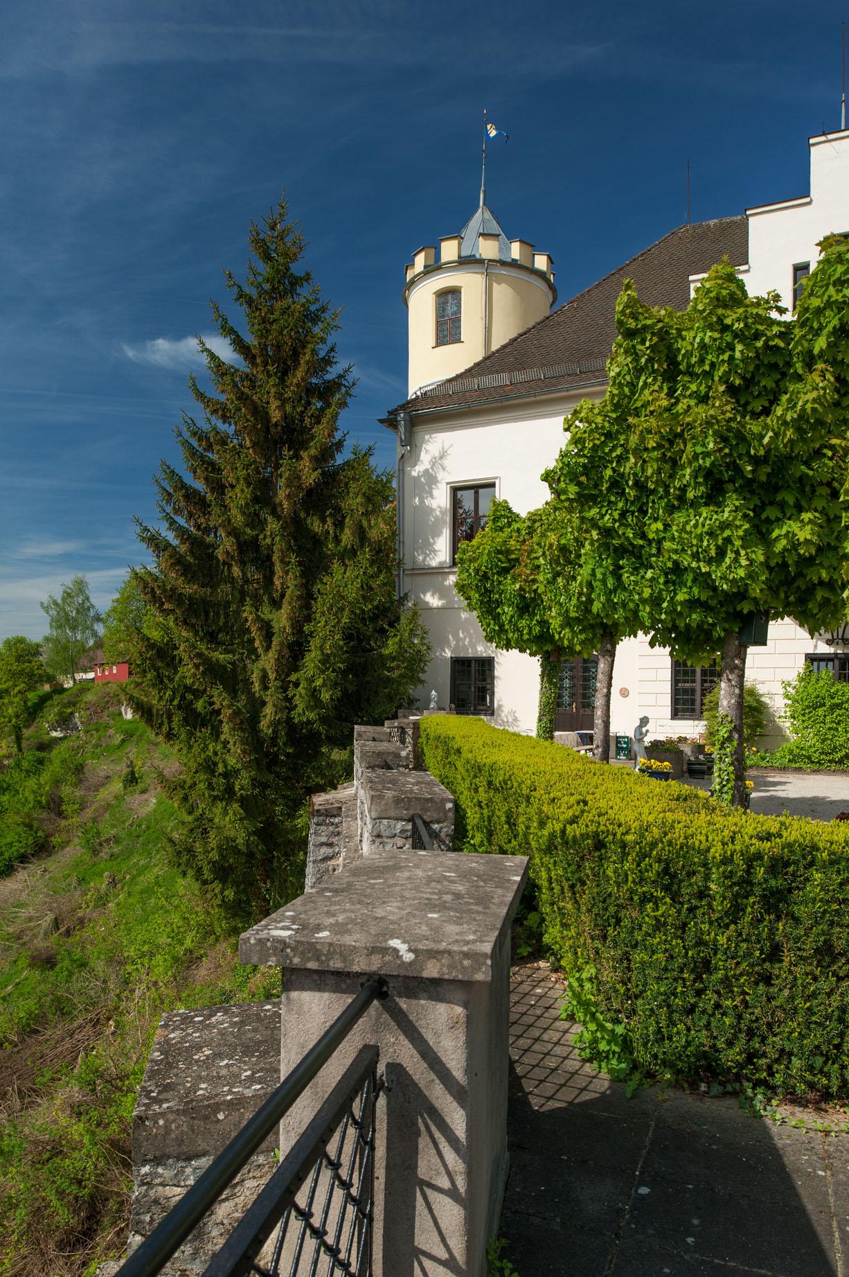 Kasteeltoren landgoed Schloss Möhren