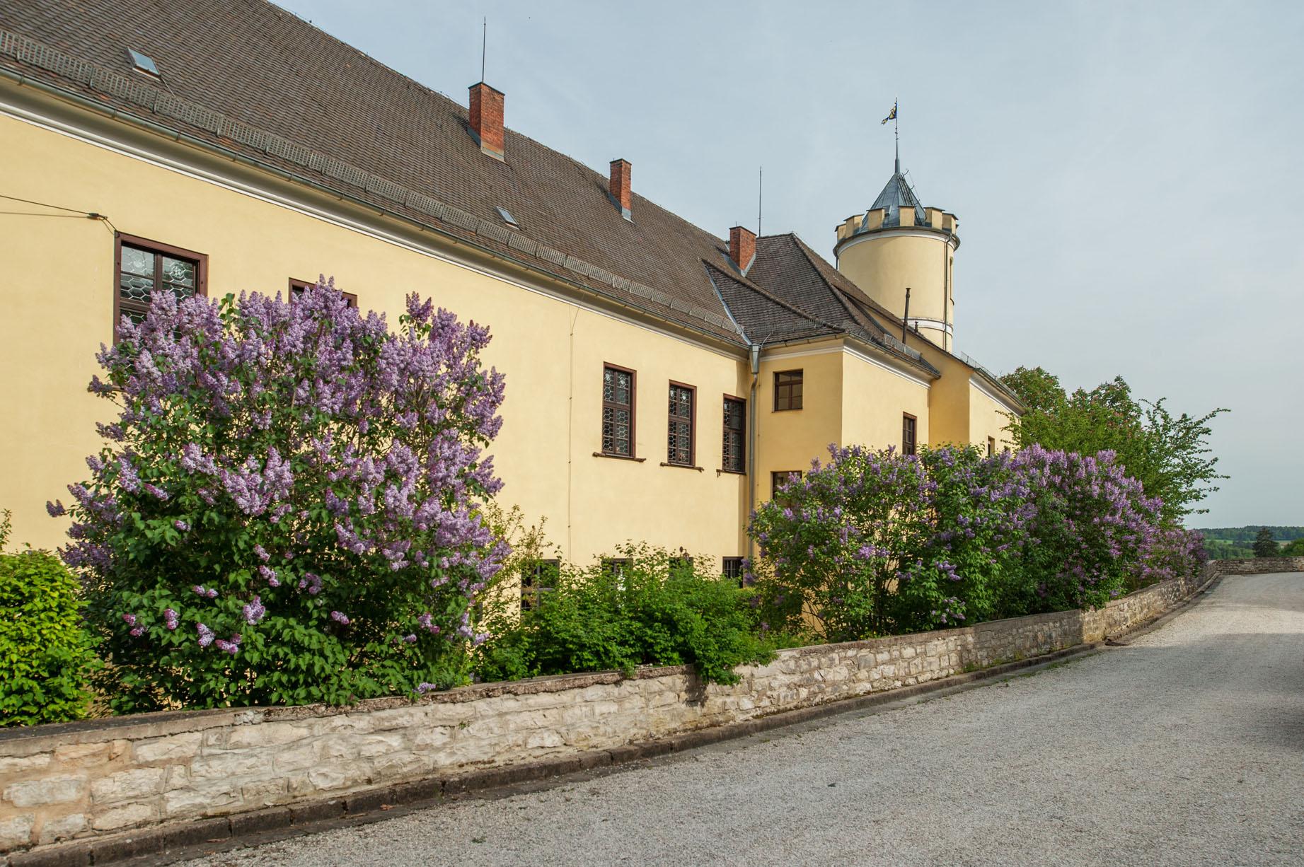 Achterzijde kasteel landgoed Schloss Möhren