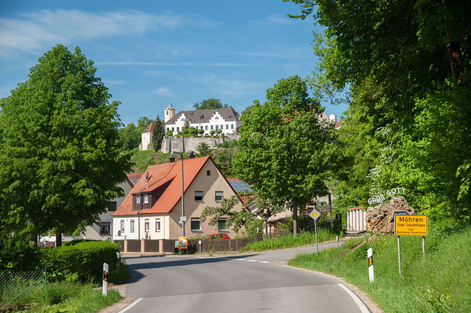 Dorpsgezicht kasteel landgoed Schloss Möhren
