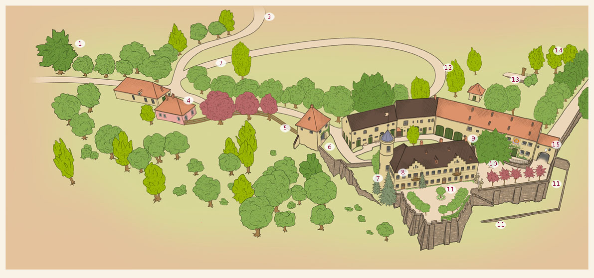 Plattegrond landgoed Schloss Möhren