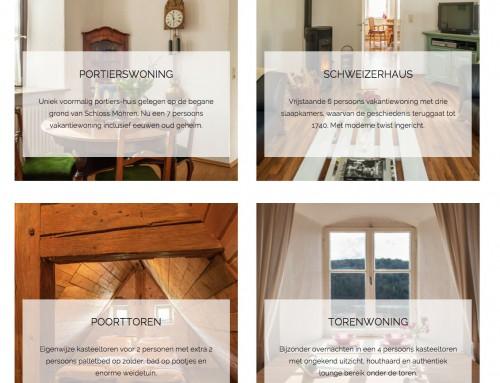 Nieuwe website Schloss Moehren