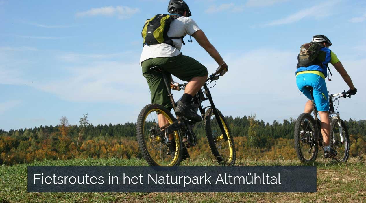Fietsroutes in het Naturpark Altmühltal
