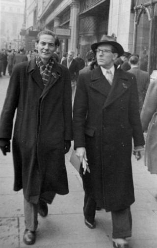 Schreiber en Bert Haanstra 1948