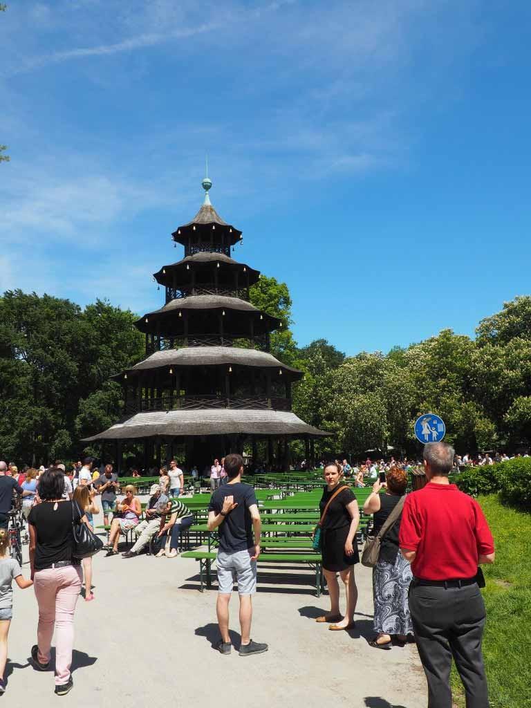 Englischer Garten Chinese toren Chinesischer Turm