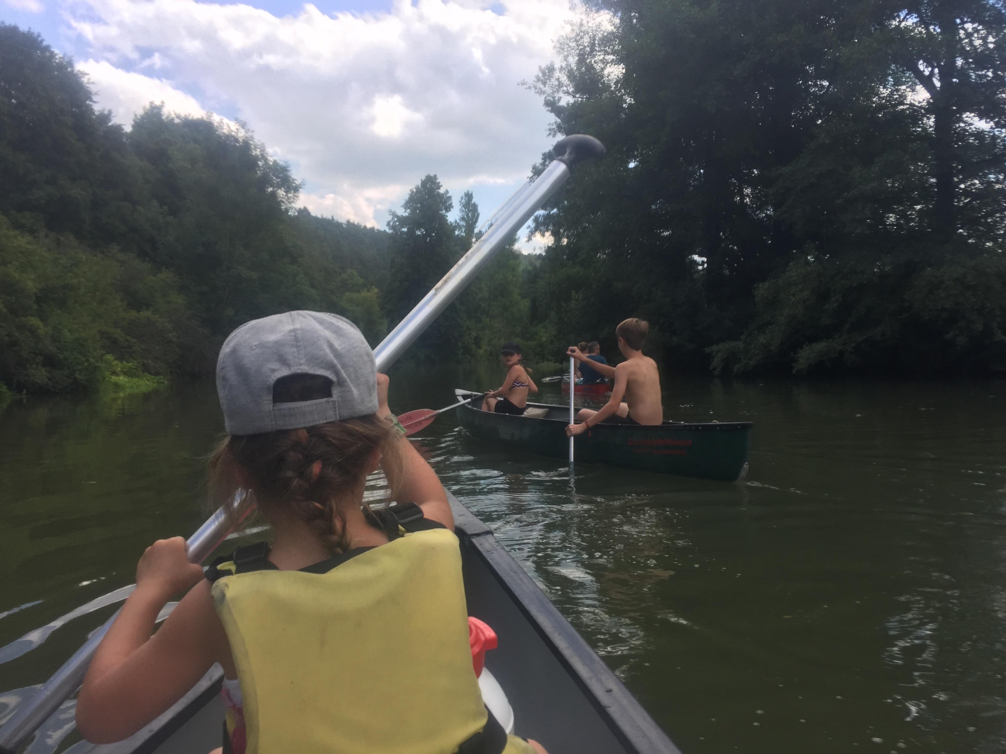 Kanovaren op de rivier de Altmühl