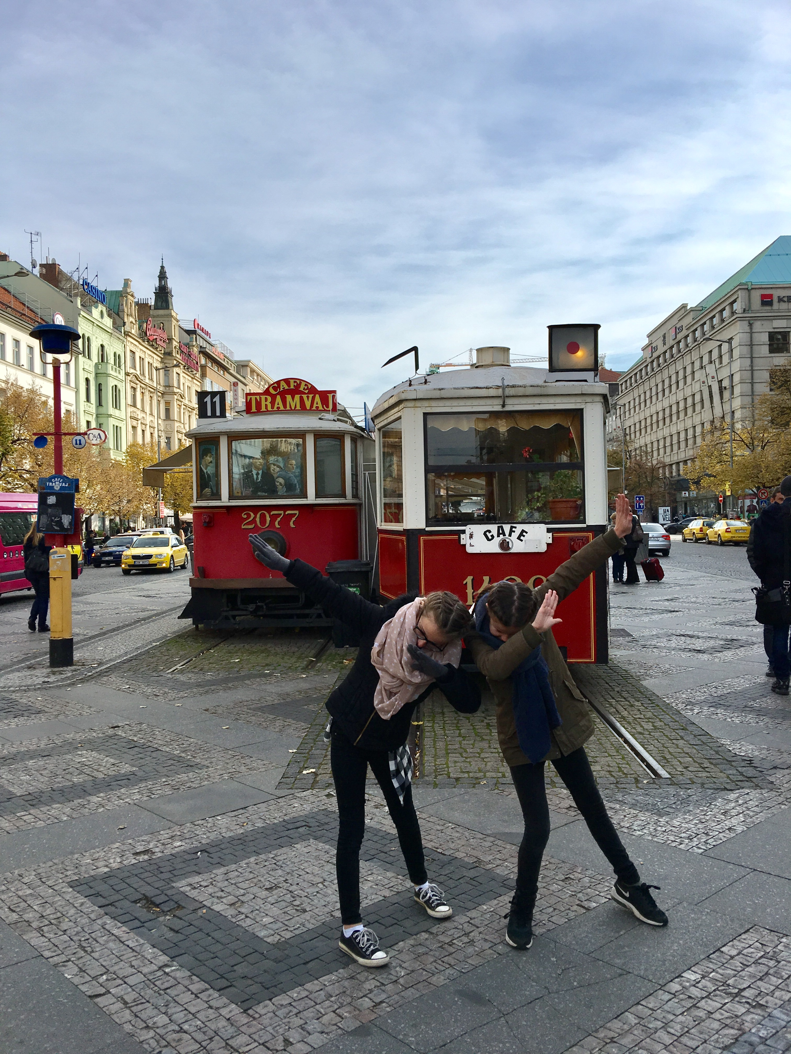 the dab op het Wenceslas square