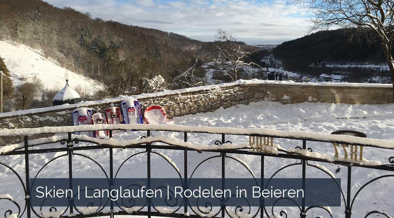 Skien Langlaufen Rodelen wintersport in Beieren