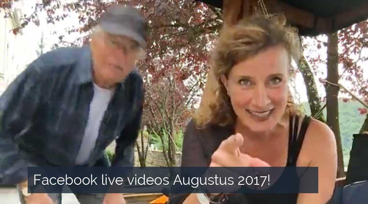 Facebook live videos Augustus 2017