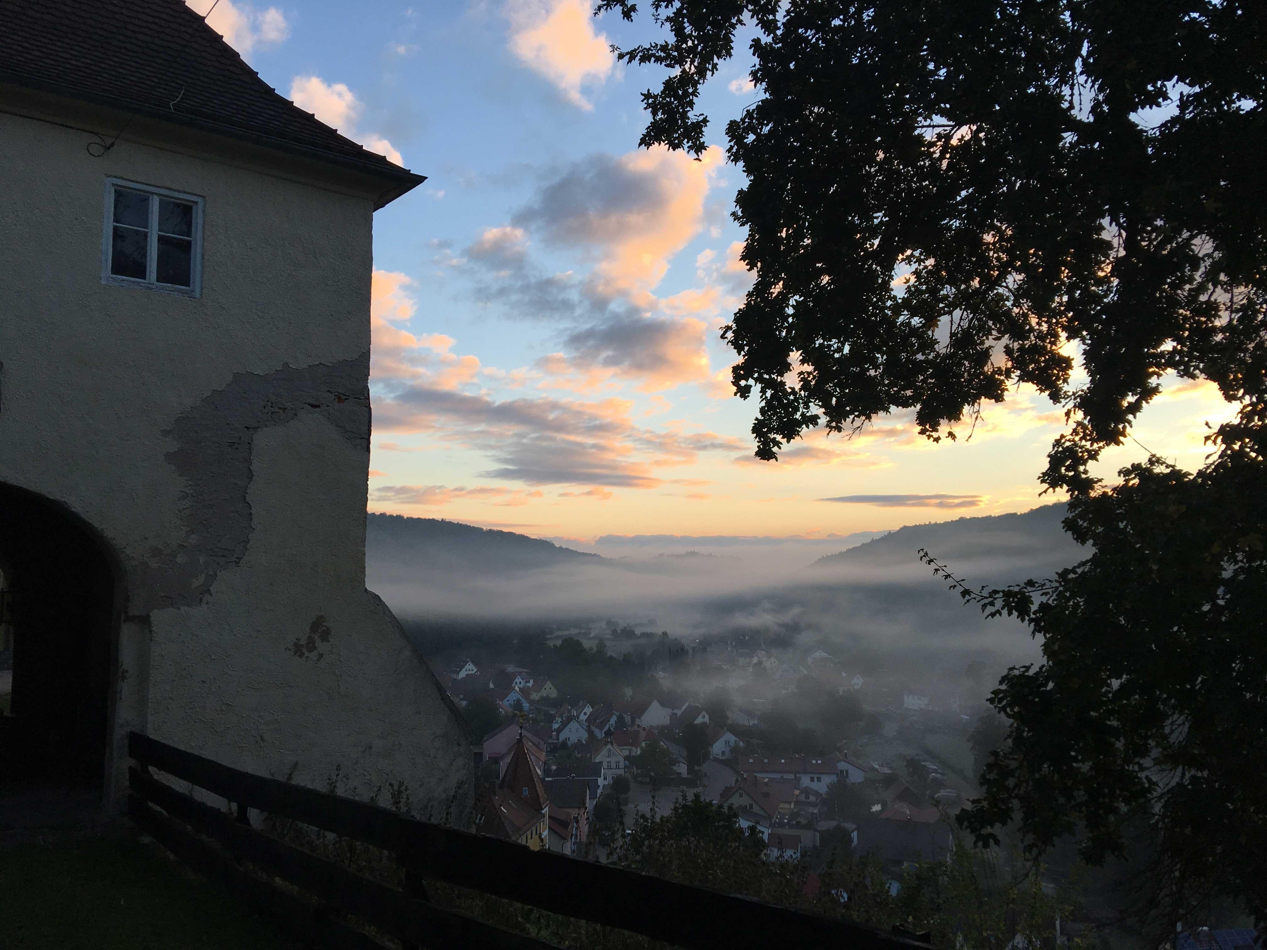 herfstvakantie in een kasteeltoren in Beieren
