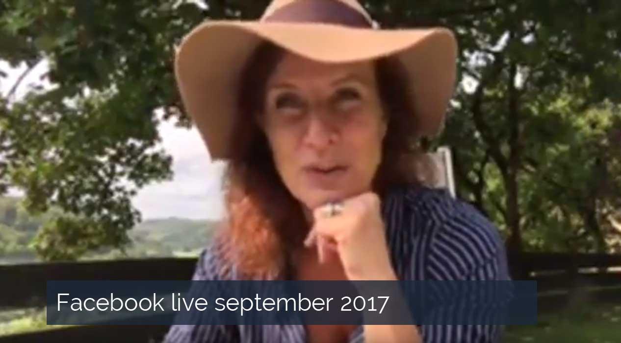 Facebook live September 2017