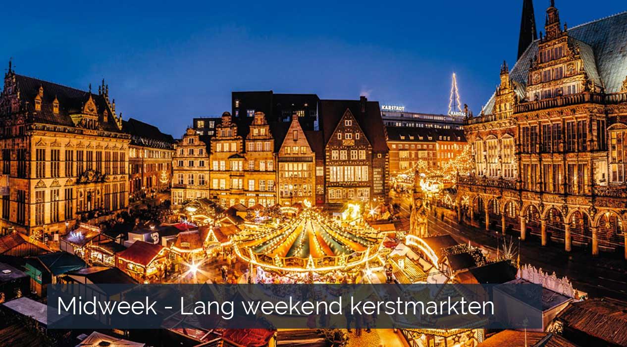 Lang weekend midweek kerstmarkten Duitsland