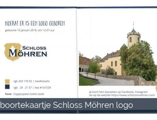 Nieuw logo Schloss Möhren afgeleid van het kasteelwapen