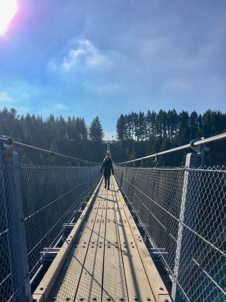 Geierlay voetgangershangbrug Duitsland