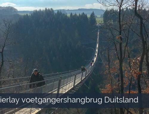 Voetgangershangbrug Geierlay Duitsland