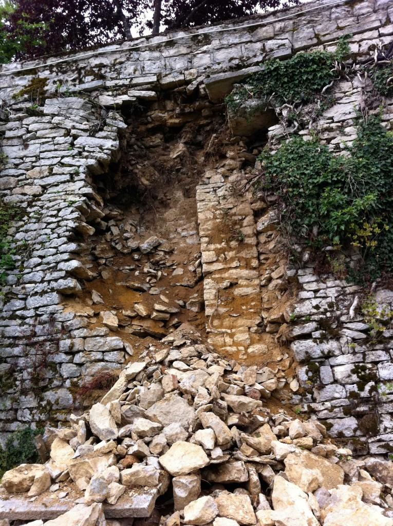 Renovatie Schloss muur