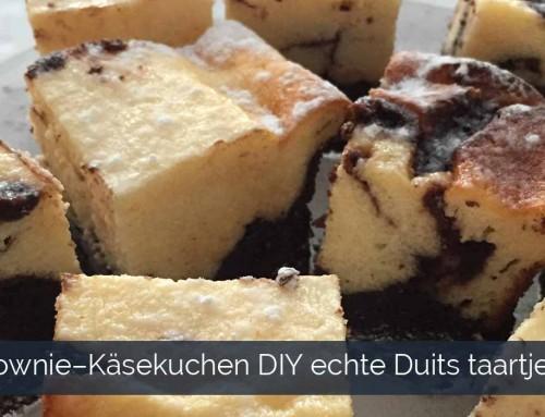 Brownie–Käsekuchen DIY echte Duits taartjes smaakt net zo als hij klinkt LEKKER!
