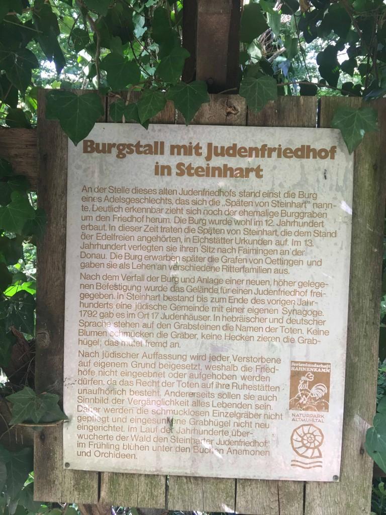 Joods kerkhof Steinhart Beieren Duitsland