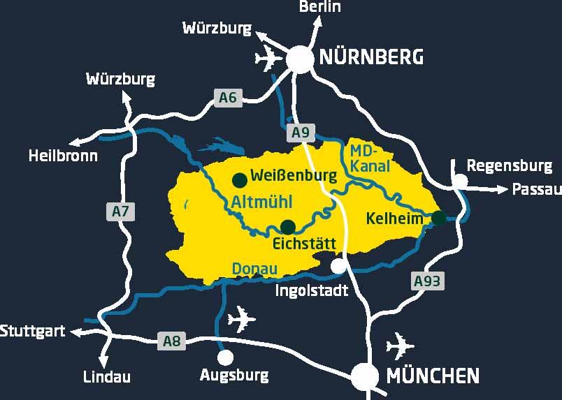 ligging Altmuhltal