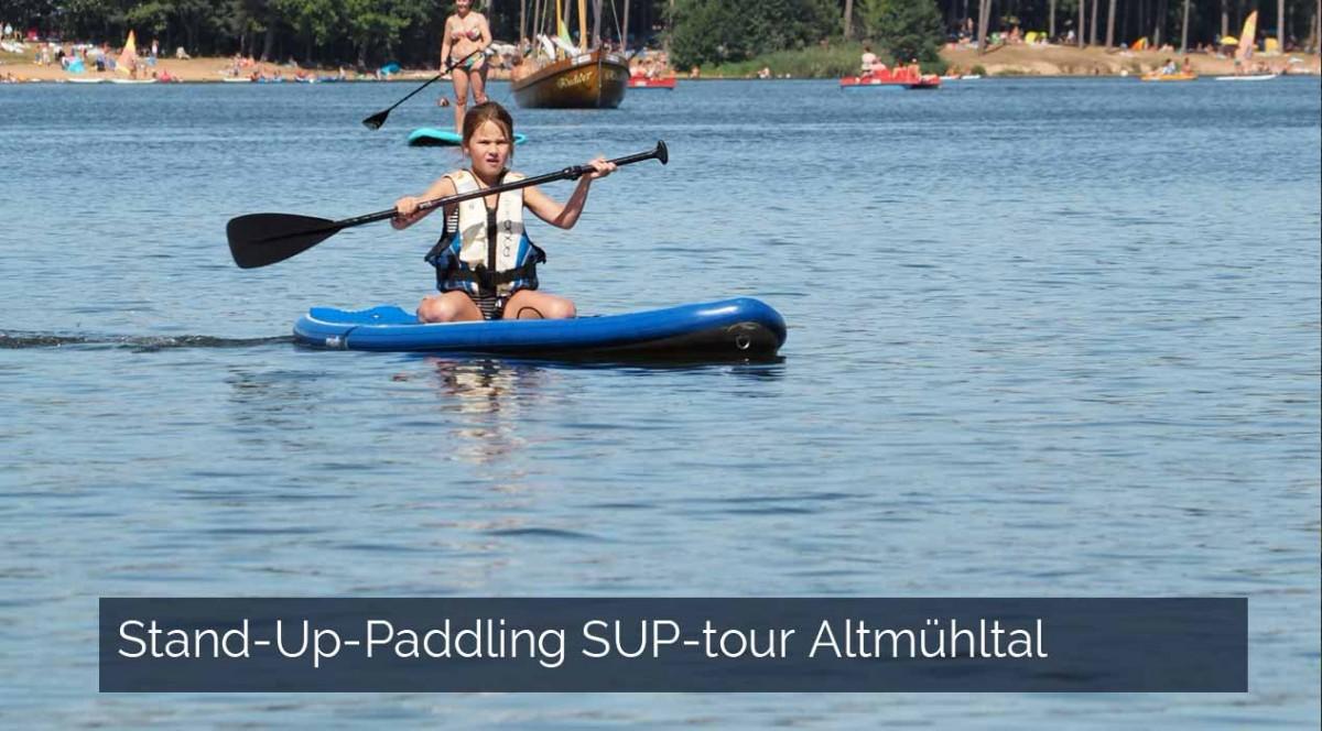 Stand-Up-Paddling SUP-tour Altmühltal