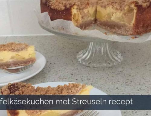 Apfelkäsekuchen met Streuseln recept – Backsels van Roos
