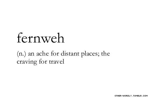 Wat betekent Fernweh?