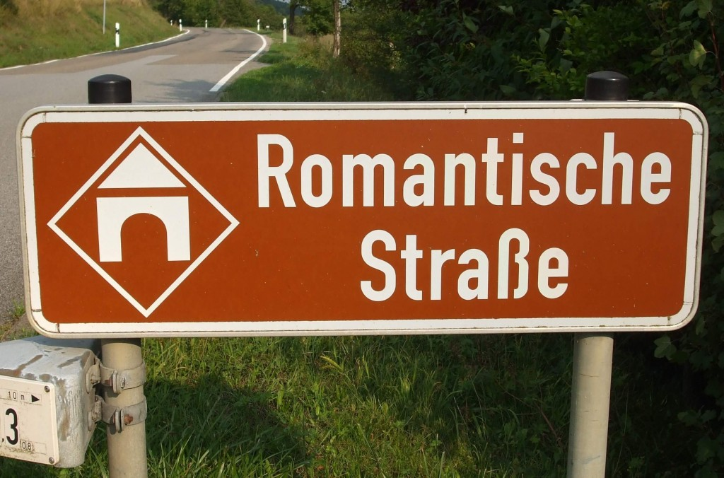 Bordje Romantische Strasse