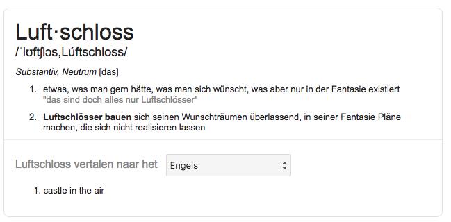 Wat is een Luftschloss?