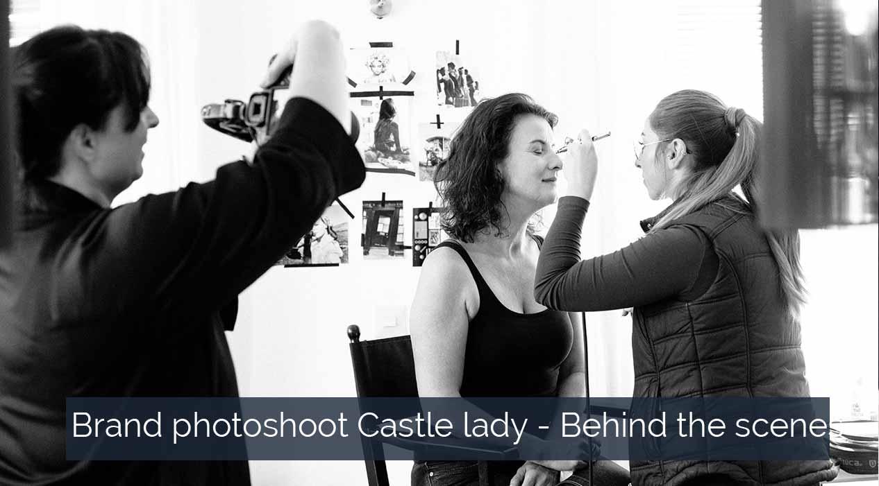 Brand photoshoot behind the scenes