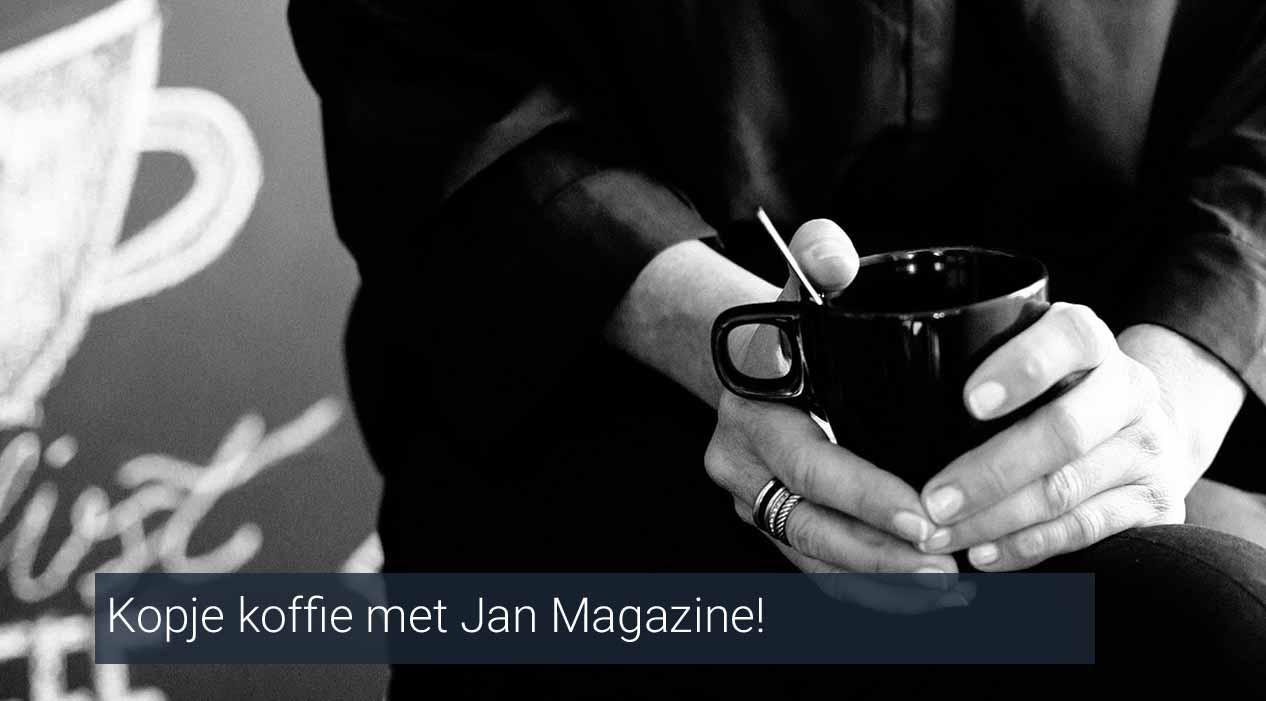 Kopje koffie op de redactie van Jan Magazine