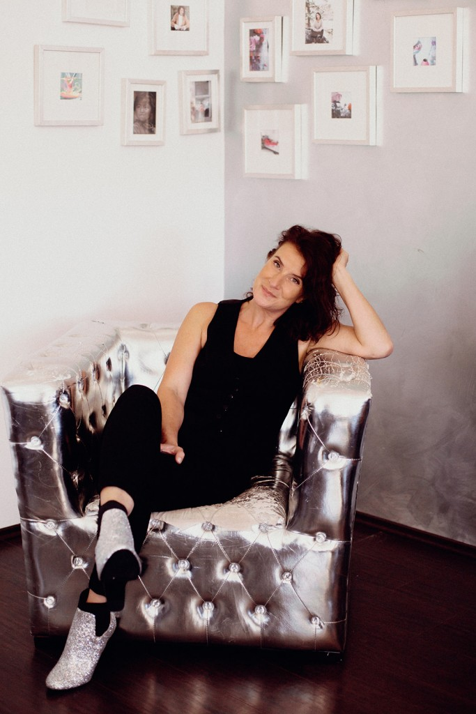 Sandra de Greeff in Silver Chair