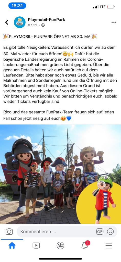Playmobile Funpark open vanaf 30 mei 2020