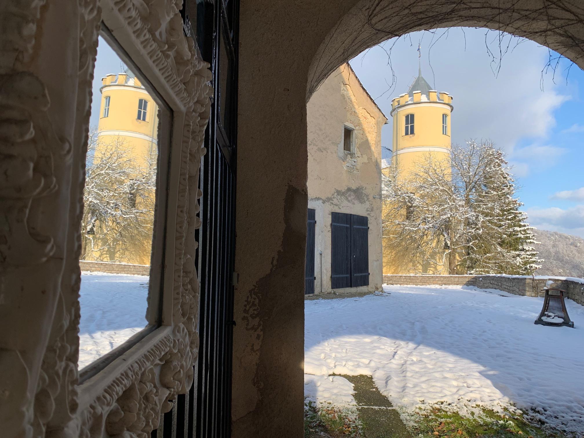 Kasteel en sneeuw