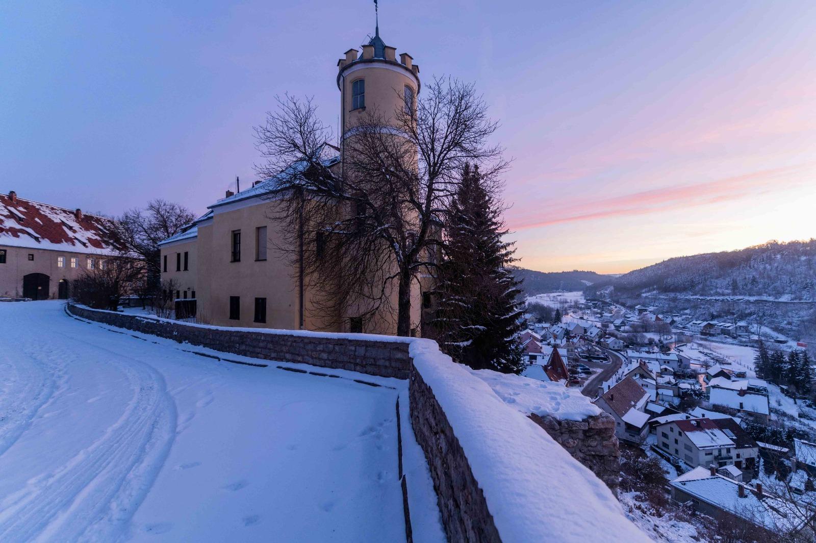Winter op het kasteel